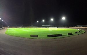 Floodlights illuminate Shielfield Park as the 'Gers enjoy a winning performance against Stirling. Image courtesy of Rod Perryman